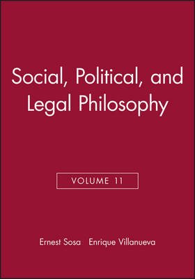 Social, Political, and Legal Philosophy - Philosophical Issues: A Supplement to Nous (Hardback)