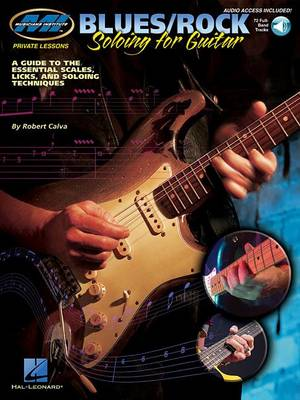 MI Private Lessons: Blues/Rock Soloing For Guitar (Book/Online Audio) (Paperback)