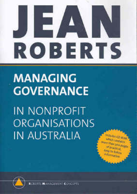 Managing Governance in Non-profit Organisations in Australia (Paperback)