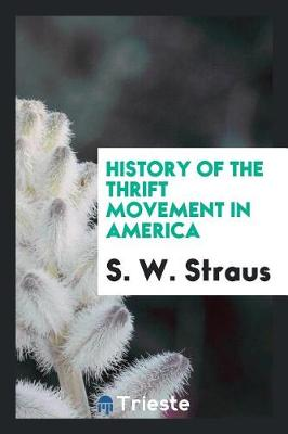 History of the Thrift Movement in America (Paperback)