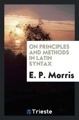 On Principles and Methods in Latin Syntax (Paperback)