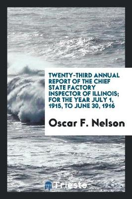 Twenty-Third Annual Report of the Chief State Factory Inspector of Illinois; For the Year July 1, 1915, to June 30, 1916 (Paperback)
