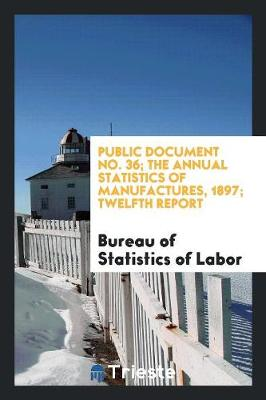 Public Document No. 36; The Annual Statistics of Manufactures, 1897; Twelfth Report (Paperback)
