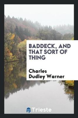 Baddeck, and That Sort of Thing (Paperback)