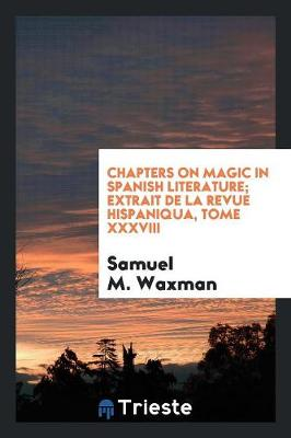 Chapters on Magic in Spanish Literature (Paperback)