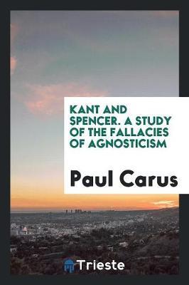 Kant and Spencer (Paperback)