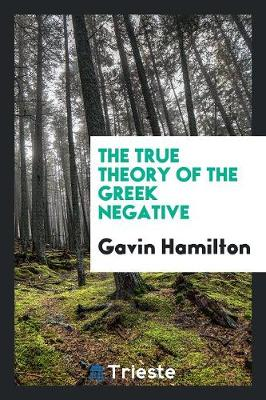 The True Theory of the Greek Negative (Paperback)