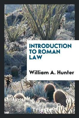 Introduction to Roman Law (Paperback)