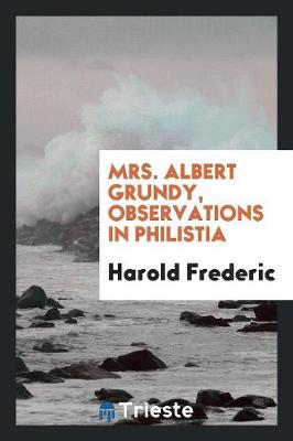 Mrs. Albert Grundy, Observations in Philistia (Paperback)