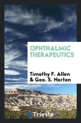 Ophthalmic Therapeutics (Paperback)