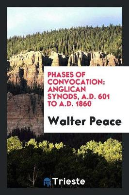 Phases of Convocation: Anglican Synods, A.D. 601 to A.D. 1860 (Paperback)