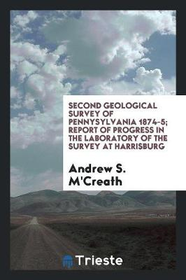 Second Geological Survey of Pennysylvania 1874-5; Report of Progress in the Laboratory of the Survey at Harrisburg (Paperback)