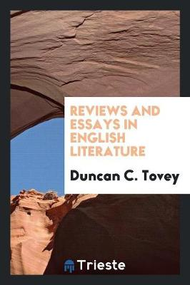 Reviews and Essays in English Literature (Paperback)