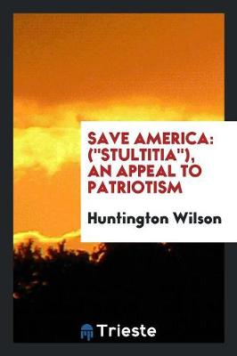 Save America: (stultitia), an Appeal to Patriotism (Paperback)