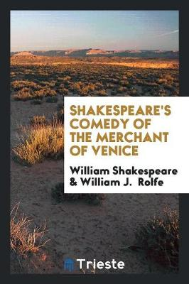 Shakespeare's Comedy of the Merchant of Venice (Paperback)