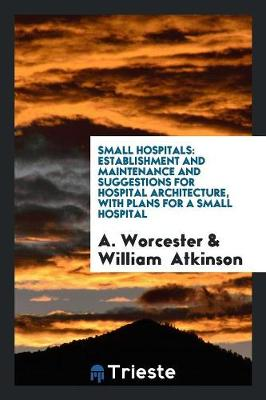Small Hospitals: Establishment and Maintenance and Suggestions for Hospital Architecture, with Plans for a Small Hospital (Paperback)