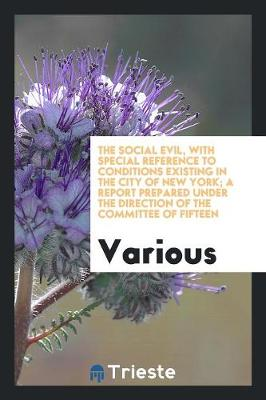 The Social Evil, with Special Reference to Conditions Existing in the City of New York; A Report Prepared Under the Direction of the Committee of Fifteen (Paperback)
