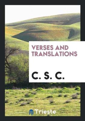 Verses and Translations (Paperback)