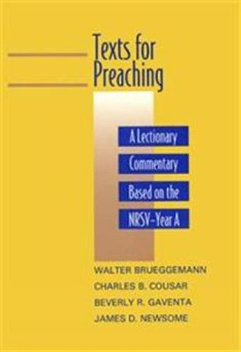 Texts for Preaching - Year A: A Lectionary Commentary Based on the NRSV (Paperback)