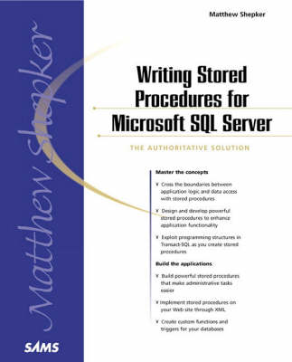 Writing Stored Procedures for Microsoft SQL Server (Paperback)