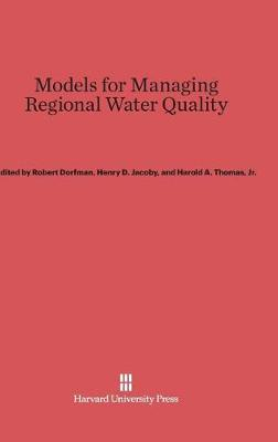 Models for Managing Regional Water Quality (Hardback)