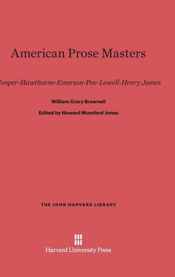 American Prose Masters - John Harvard Library (Hardcover) 66 (Hardback)