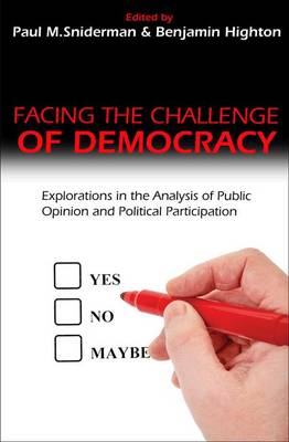 Facing the Challenge of Democracy: Explorations in the Analysis of Public Opinion and Political Participation (Paperback)