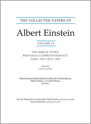 The Collected Papers of Albert Einstein, Volume 14 (English): The Berlin Years: Writings & Correspondence, April 1923-May 1925 (English Translation Supplement) - Documentary Edition - Collected Papers of Albert Einstein 24 (Paperback)