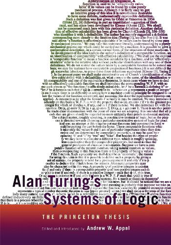 Alan Turing's Systems of Logic: The Princeton Thesis (Paperback)