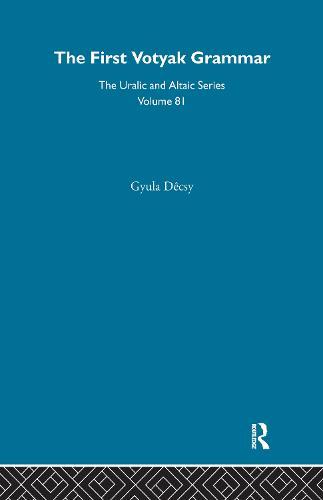 First Votyak Grammar (Hardback)