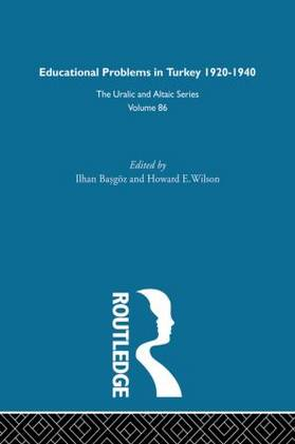 Educational Problems in Turkey (Hardback)