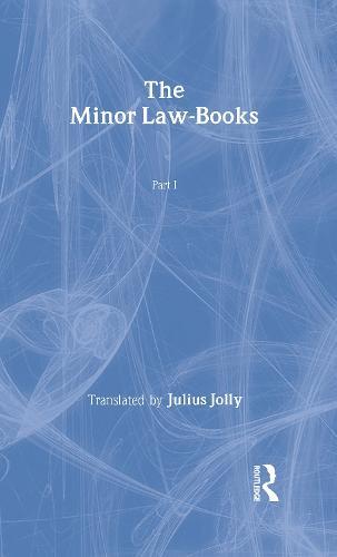 The Minor Law Books (Hardback)