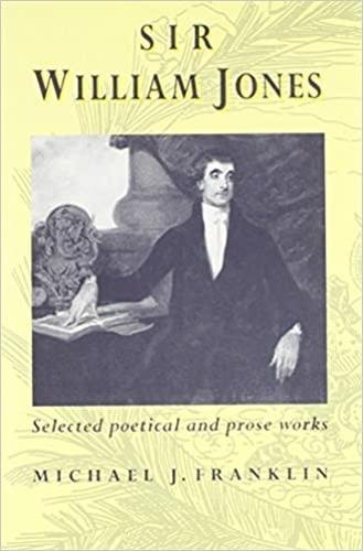 Sir William Jones: Selected Poetical and Prose Works (Hardback)