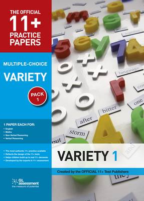 11+ Practice Papers, Variety Pack 1, Multiple Choice: English Test 1, Maths Test 1, Verbal Reasoning Test 1, Non-Verbal Reasoning Test 1 - The Official 11+ Practice Papers Pack 1 (Paperback)