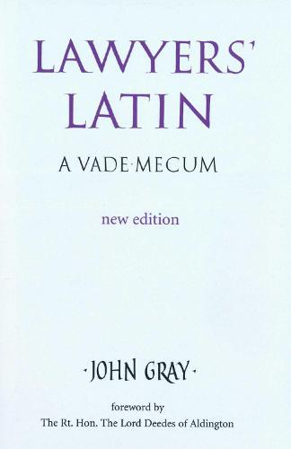 Lawyer's Latin (Hardback)