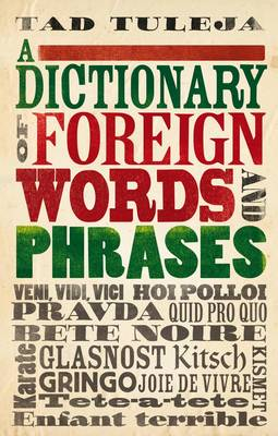 A Dictionary of Foreign Words and Phrases (Paperback)