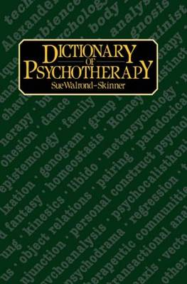 Dictionary of Psychotherapy (Hardback)