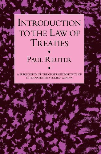 Introduction To The Law Of Treat (Hardback)