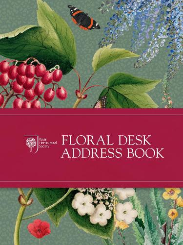 RHS Floral Desk Address Book (Hardback)