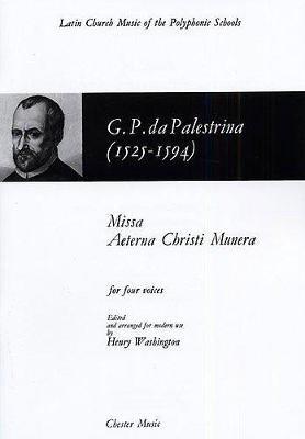 Giovanni Palestrina: Missa Aeterna Christi Munera (Paperback)