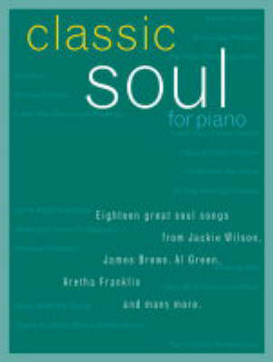 Classic Soul for Piano (Paperback)