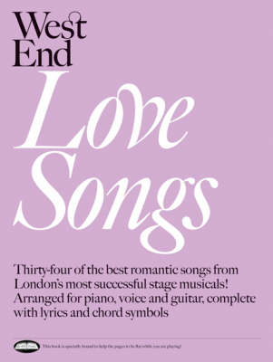 West End Love Songs: For Piano, Voice and Guitar (Paperback)