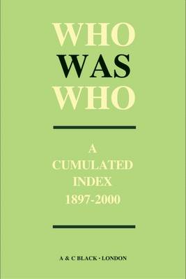 Who Was Who Index (1897-2000) - Who's Who (Hardback)