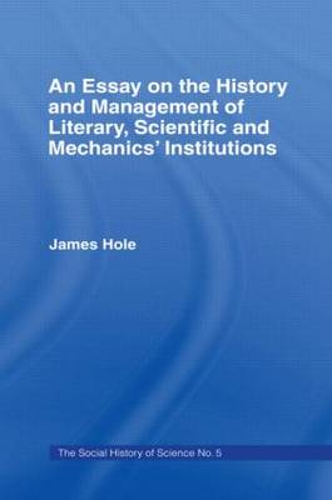 Essay on History and Management: Essay Hist Management (Hardback)