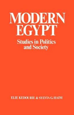 Modern Egypt: Studies in Politics and Society (Paperback)