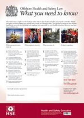 Offshore Health and Safety Law: what you need to know (Poster) (Wallchart)