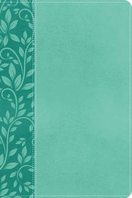 KJV, Gift Bible, Imitation Leather, Turquoise, Red Letter Edition (Leather / fine binding)