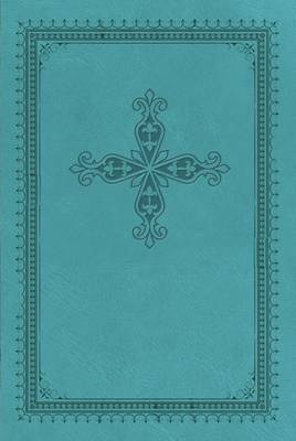 KJV, UltraSlim Bible, Imitation Leather, Turquoise, Red Letter Edition (Leather / fine binding)