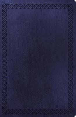 NKJV, Ultraslim Reference Bible, Large Print, Leathersoft, Navy, Red Letter Edition (Leather / fine binding)
