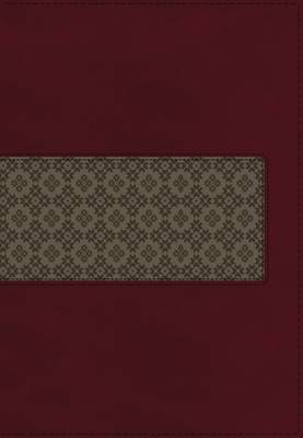 KJV Study Bible, Leathersoft, Maroon/Brown, Red Letter Edition: Second Edition (Leather / fine binding)